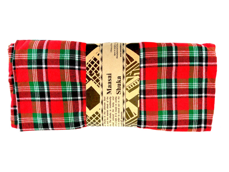 MAASAI SHUKA IN A WRAPPER