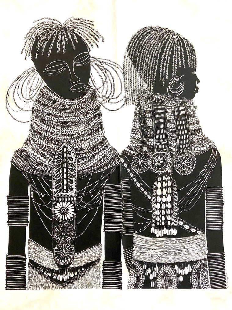 BATIK TWO TURKANA GIRLS