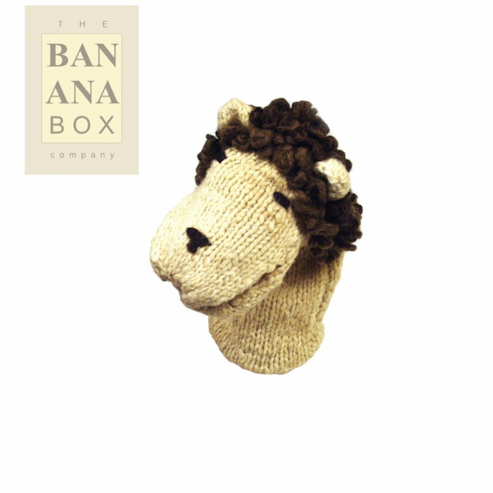 KNITTED GLOVE PUPPET (LION)