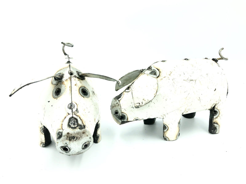METAL COLOURED PIG (SMALL)