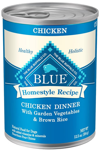 Blue Buffalo Homestyle Recipe Chicken Dinner with Garden Vegetables and Brown Rice Canned Dog Food