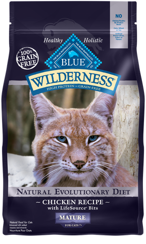 Blue Buffalo Wilderness Grain Free Mature Chicken Dry Cat Food