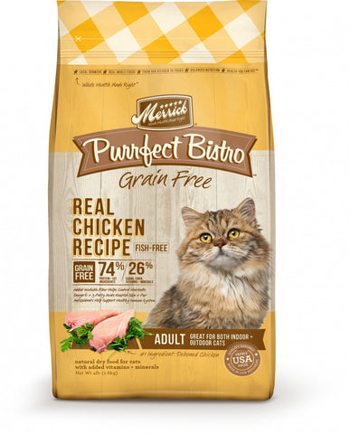 Merrick Purrfect Bistro Grain Free Real Chicken Recipe Dry Cat Food