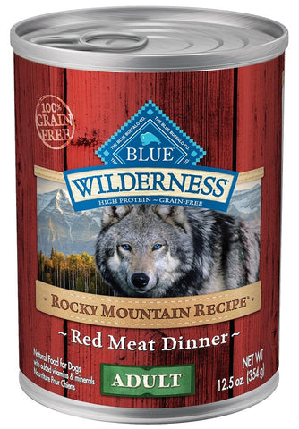 Blue Buffalo BLUE Wilderness Rocky Mountain Recipe Red Meat Dinner Adult Canned Dog Food