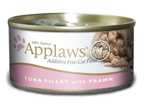 Applaws Additive Free Tuna Fillet with Prawn Canned Cat Food