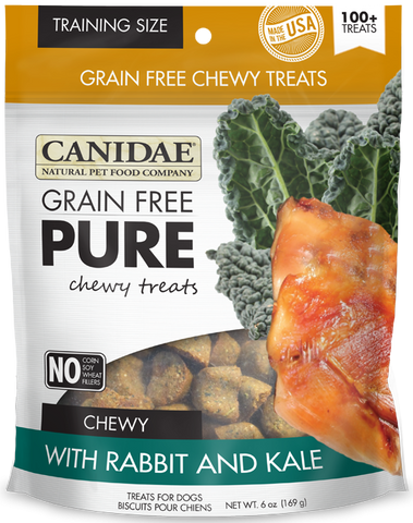 Canidae Grain Free PURE Chewy Training Treats with Rabbit and Kale Dog Treats