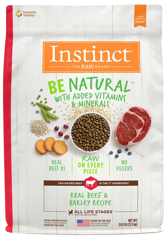 Nature's Variety Instinct Be Natural Beef & Barley Recipe Dry Dog Food