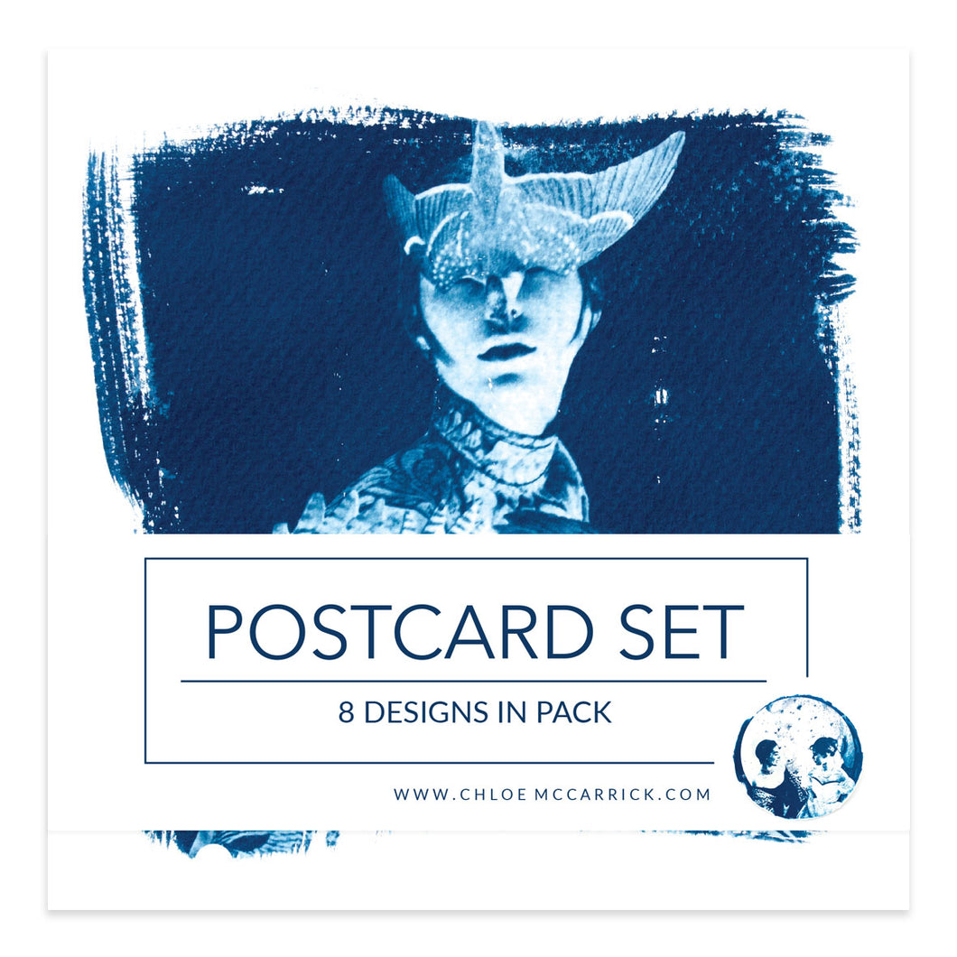 CYANOTYPE POSTCARD SET SQ