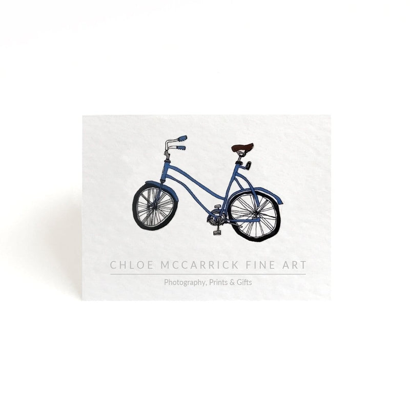 BLUE BICYCLE BROOCH