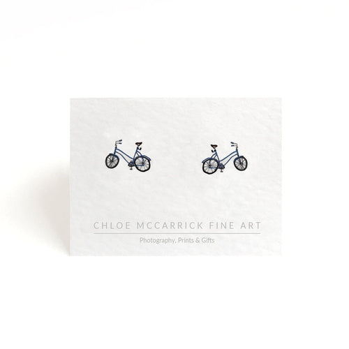 BLUE BICYCLE EARRINGS