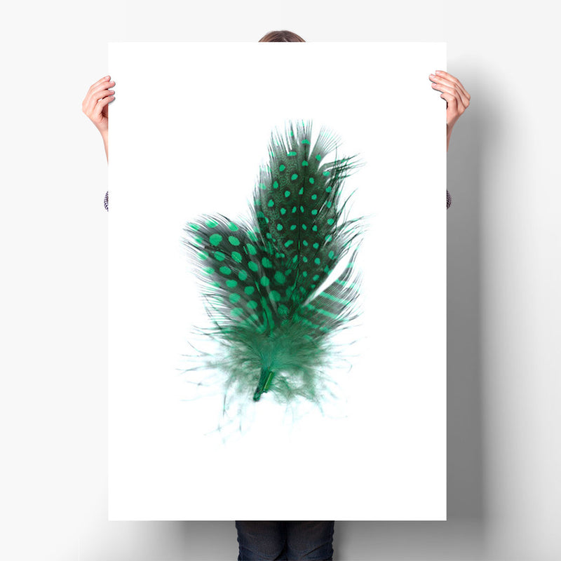 GUINEA HEN FEATHERS (GREEN)