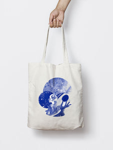 HYPATIA STUDIES THE STARS (BLUE) TOTE