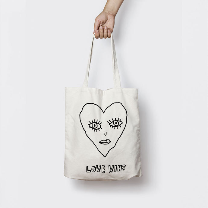 LOVE WINS (OUTLINE) TOTE