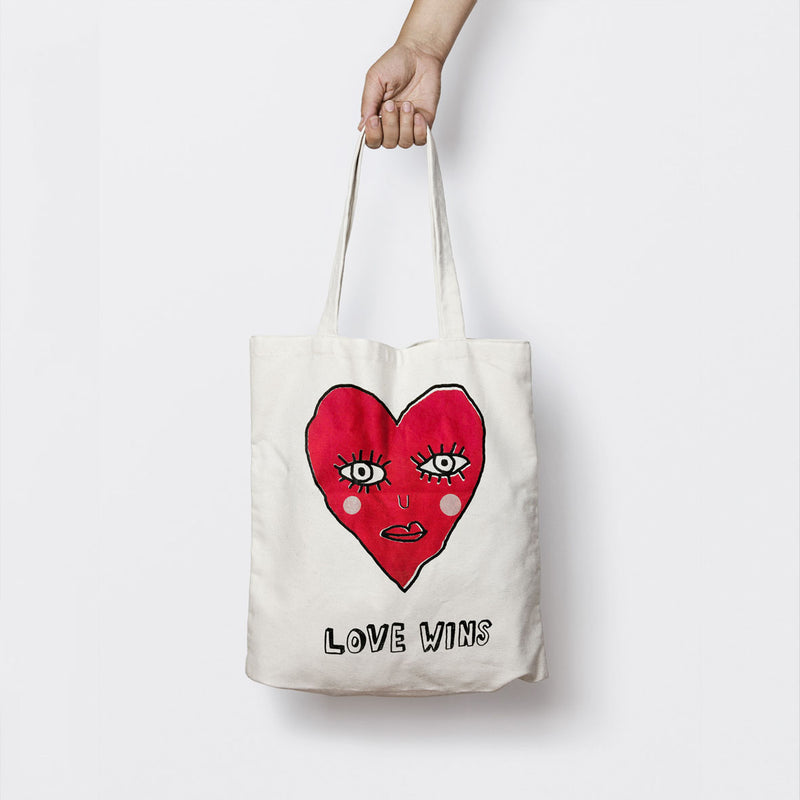 LOVE WINS (RED) TOTE