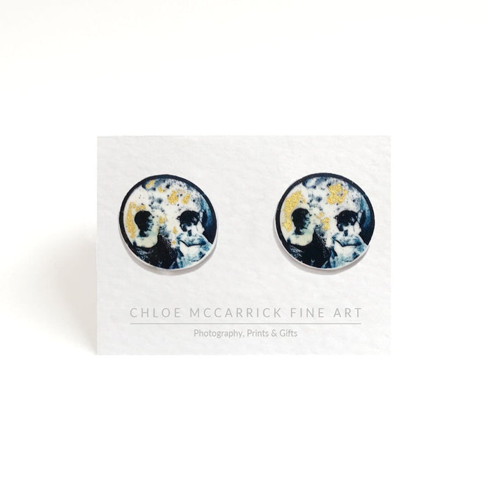GOLD LEAF LUNAR ETIQUETTE EARRINGS (MEDIUM)