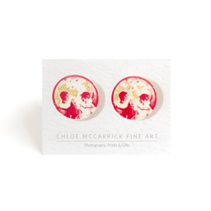 LUNAR ETIQUETTE EARRINGS (RED)