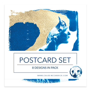 CYANOTYPE POSTCARD SET II SQ