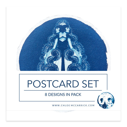 CYANOTYPE POSTCARD SET IV SQ