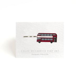 LONDON BUS HAIR CLIP