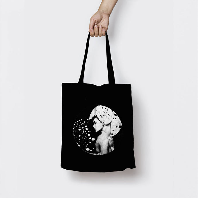 REFLECTIONS IN HEAVEN BLACK TOTE