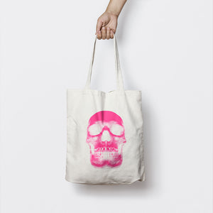 NEON PINK SKULL TOTE