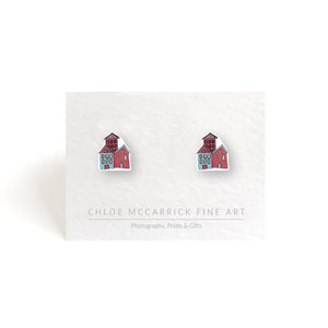 SCANDINAVIAN HOUSES (PINK) EARRINGS