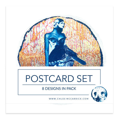 CYANOTYPE POSTCARD SET III SQ