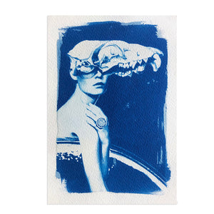 THE LADY AND HER MONSTER (STUDY IN BLUE)