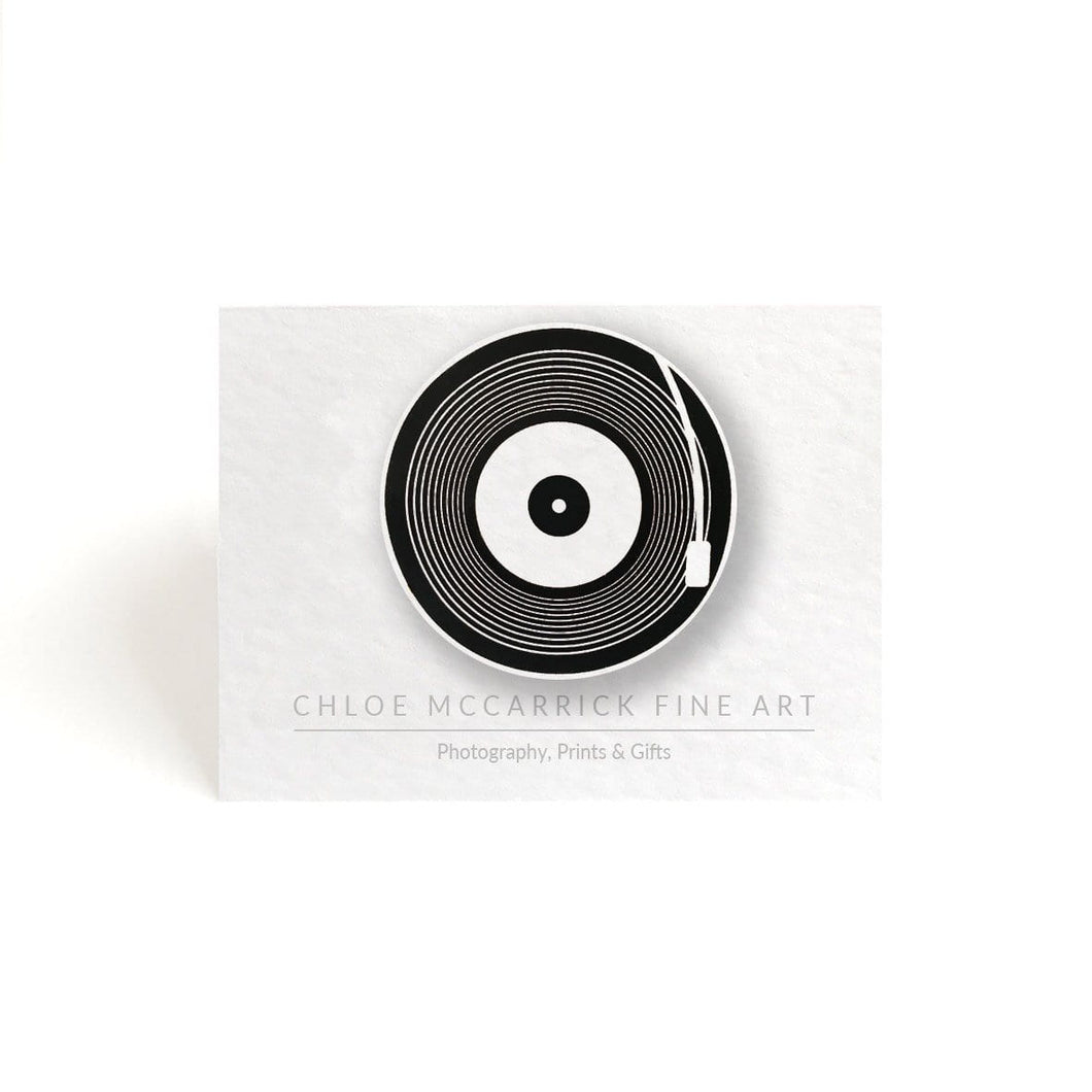 VINYL RECORD BROOCH