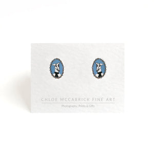 WHIPPET CAMEO EARRINGS