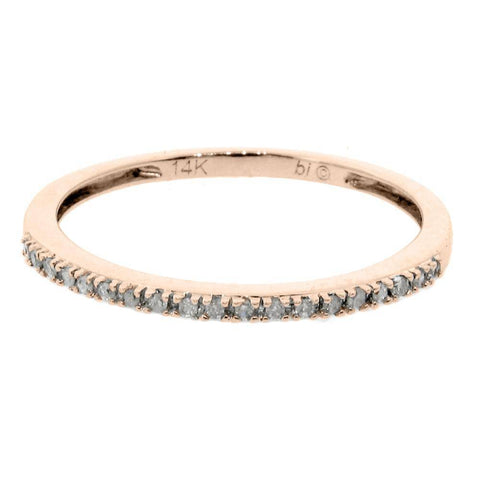 Image of 10K Gold Stackable Band with Diamond Accent