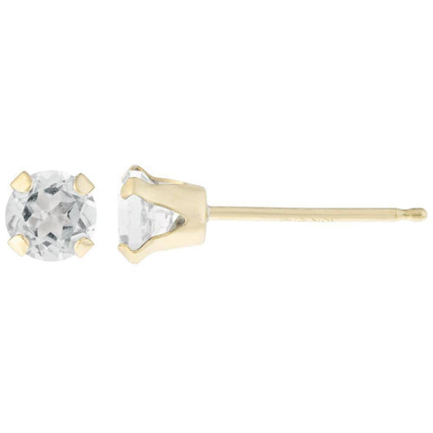 Image of Lavari - 14K Gold Round-shaped Gemstone Stud Earrings - Women's