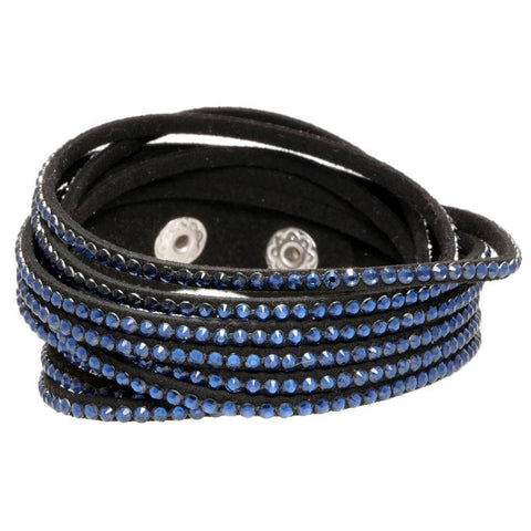 Lavari Jewelers -  Wrap Bracelet with Glass & Faux Suede - Womens