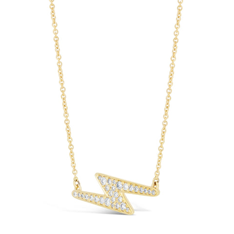Image of Lavari - 10K Gold Lightning Necklace with ¼ ct. TDW Diamond