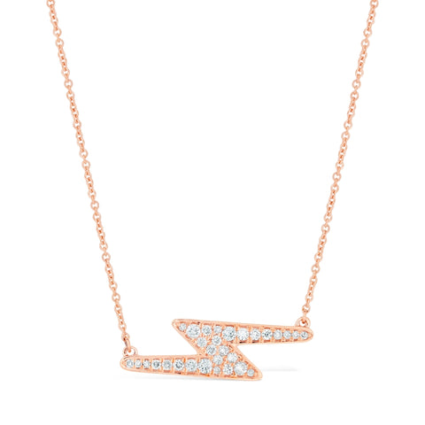 Lavari - 10K Gold Lightning Necklace with 1/4 ct. TDW Diamond