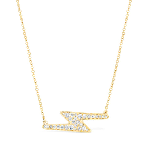 Lavari - 10K Gold Lightning Necklace with ¼ ct. TDW Diamond