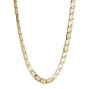 "Lavari -  Stainless Steel Mariner Link Chain Necklace - 22"", 24"", 30""- Men's"