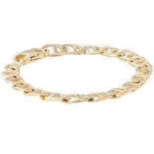 Stainless Steel Mariner Chain Bracelet, 9""