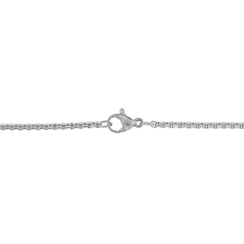 Lavari - Stainless Steel Round Box Chain Necklace