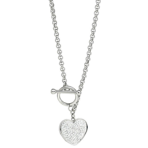 Lavari - Stainless Steel Necklace with Crystal