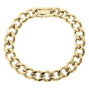 Lavari 11 mm Curb Chain Bracelet in Stainless Steel - 9
