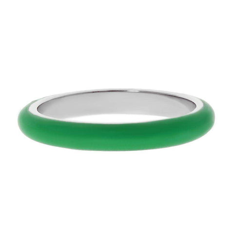 Image of Lavari - Stainless Steel and Enamel Stackable Ring - Size 5-9 - Women's