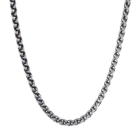 Lavari - Men's Wheat Chain Necklace Stainless Steel - 6mm