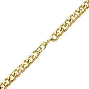 Stainless Steel Curb Chain Necklace, 22 inch