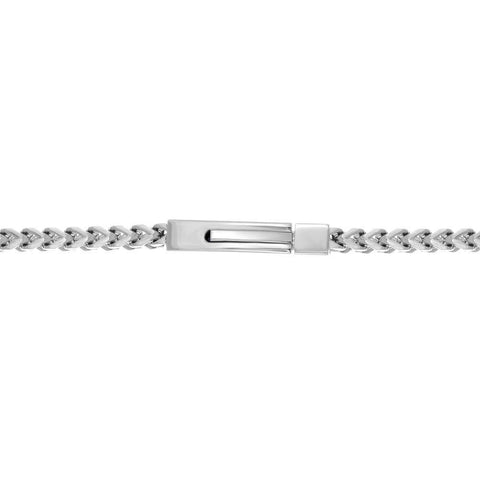 Image of Stainless Steel Foxtail ID Bracelet