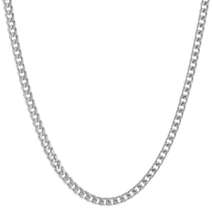 Lavari - 4mm Foxtail Chain Necklace in Stainless Steel