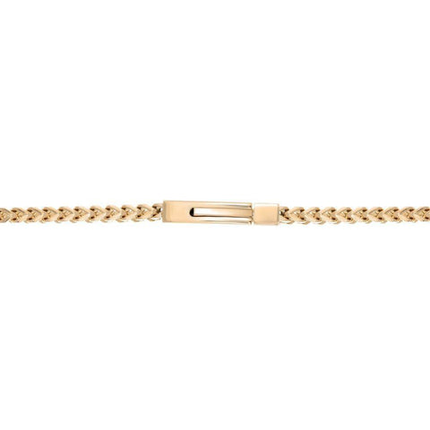 Lavari - 4mm Foxtail Chain Necklace in Stainless Steel - 22 inch