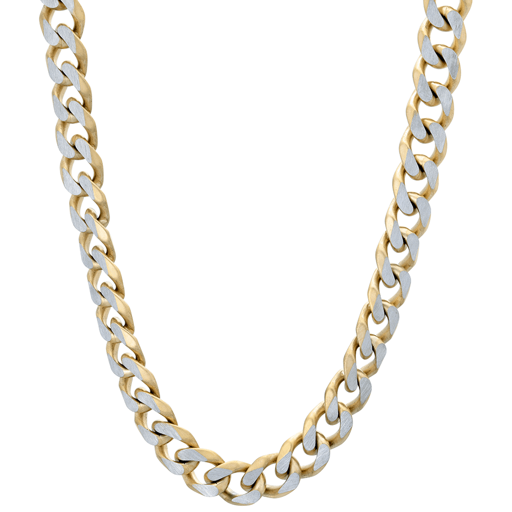 "Lavari -  Stainless Steel Curb Chain Necklace - 22"", 24"", 30""- Men's"