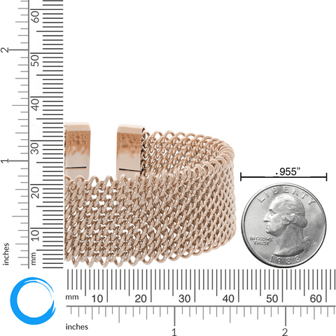 Image of Lavari - Stainless Steel Mesh Cuff - Gold, Silver, Rose Gold - Women's