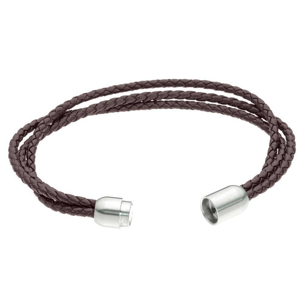 Leather Bracelet with Stainless Steel MAgnetic Clasp